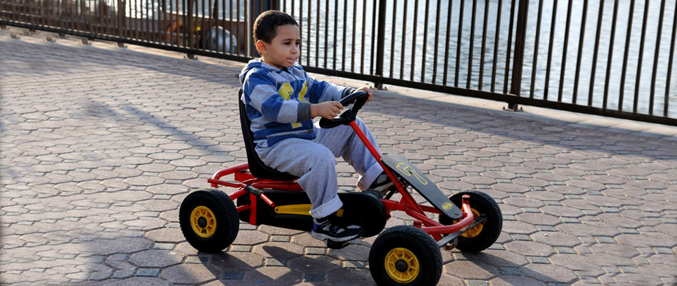 <p>If your little ones want to ride up and down the corniche and through the beautiful green landscape, then pick up a special 'Bikey' from the East or West wing and let them ride ahead in a safe environment. It is a fun way to explore and stay fit and healthy!</p>