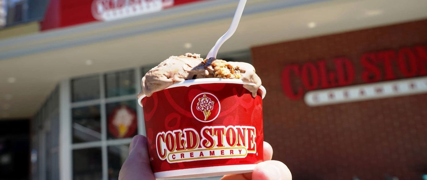 <p>For the ultimate ice-cream indulgence look no further than Cold Stone. Pick and choose your favourite  lavor, topping and filling and watch it being made up on the signature frozen granite stone. Ice-cream cakes, shakes and smoothies will satisfy anyone with a sweet tooth!</p>